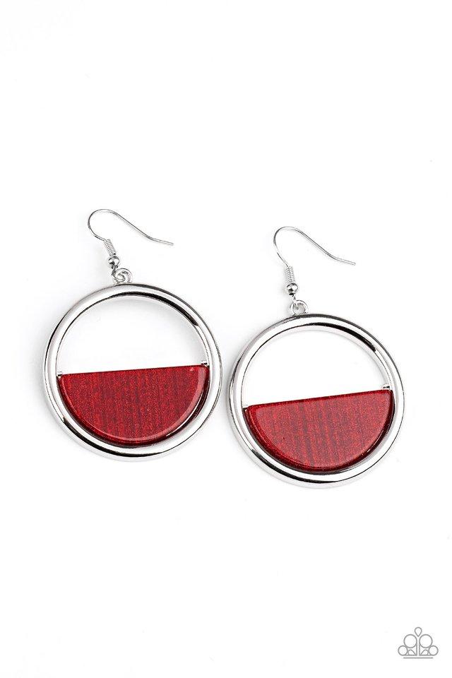 Stuck in Retrograde - Red - Paparazzi Earring Image