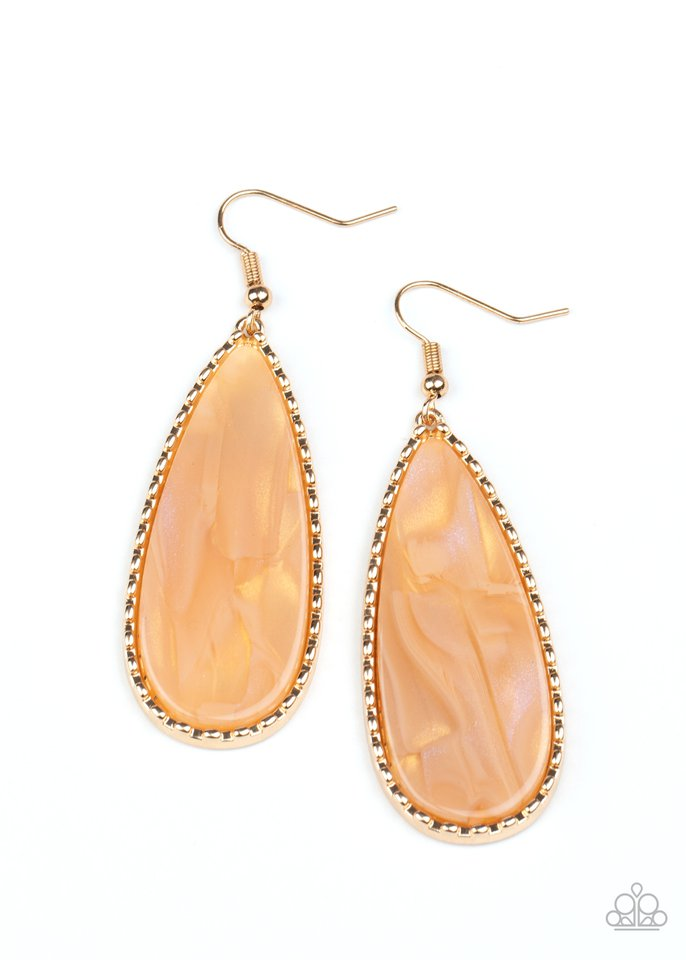 Ethereal Eloquence - Gold - Paparazzi Earring Image
