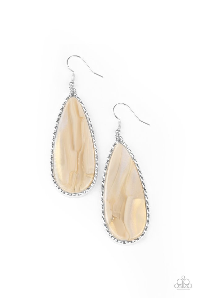 Ethereal Eloquence - White - Paparazzi Earring Image