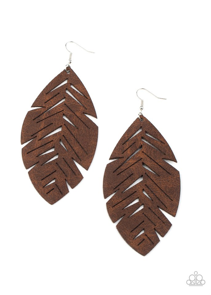 I Want To Fly - Brown - Paparazzi Earring Image