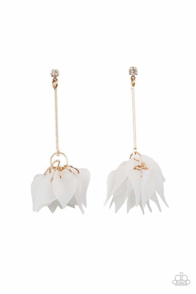Suspended In Time - Gold - Paparazzi Earring Image