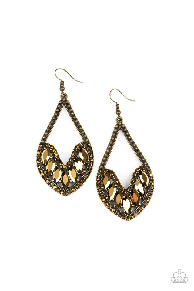 Ethereal Expressions - Brass - Paparazzi Earring Image
