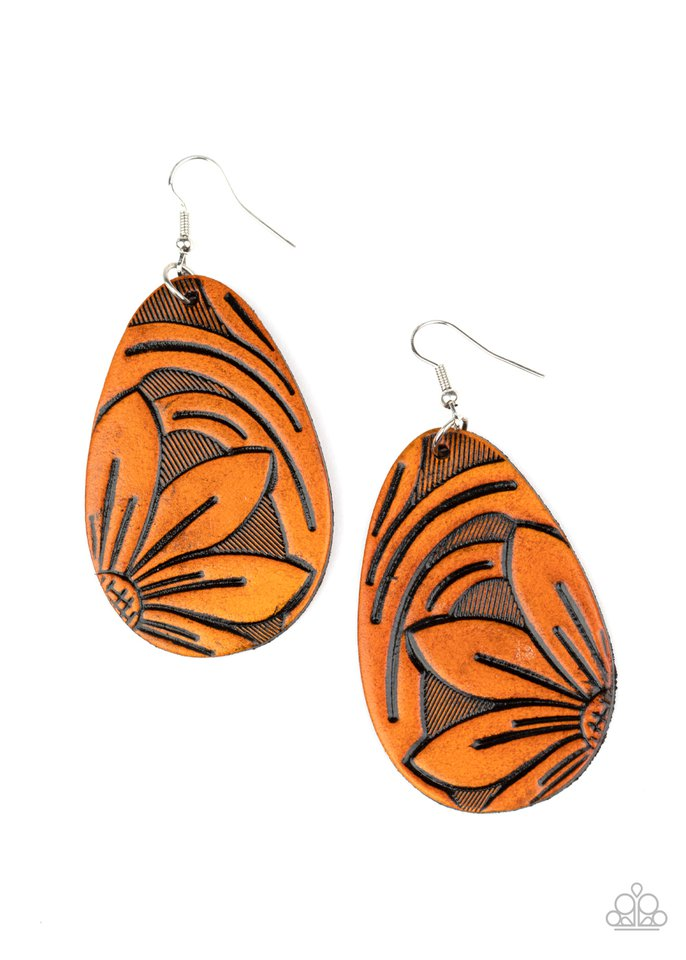 Garden Therapy - Brown - Paparazzi Earring Image