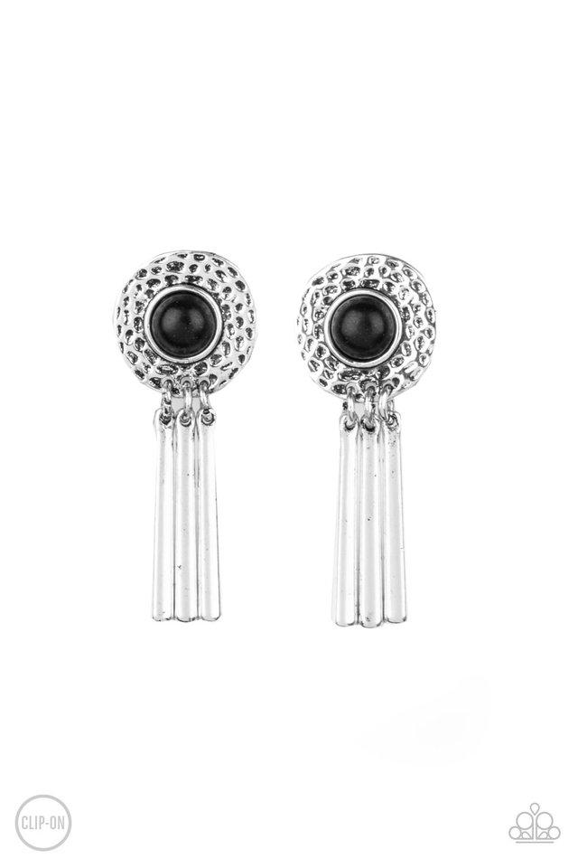 Desert Amulet - Black - Paparazzi Earring Image