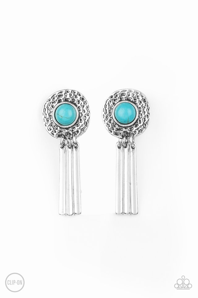Desert Amulet - Blue - Paparazzi Earring Image