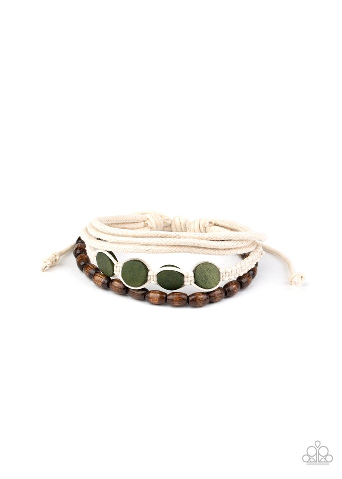 Dream Beach House - Green - Paparazzi Bracelet Image