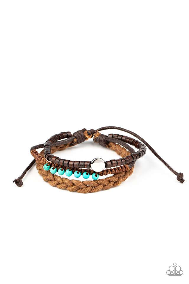 Beach Adventure - Blue - Paparazzi Bracelet Image