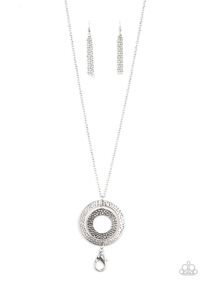 Circle Back To That - Silver - Paparazzi Necklace Image