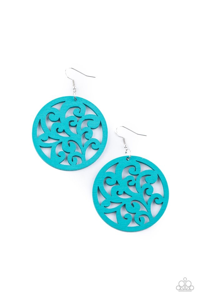 Fresh Off The Vine - Blue - Paparazzi Earring Image