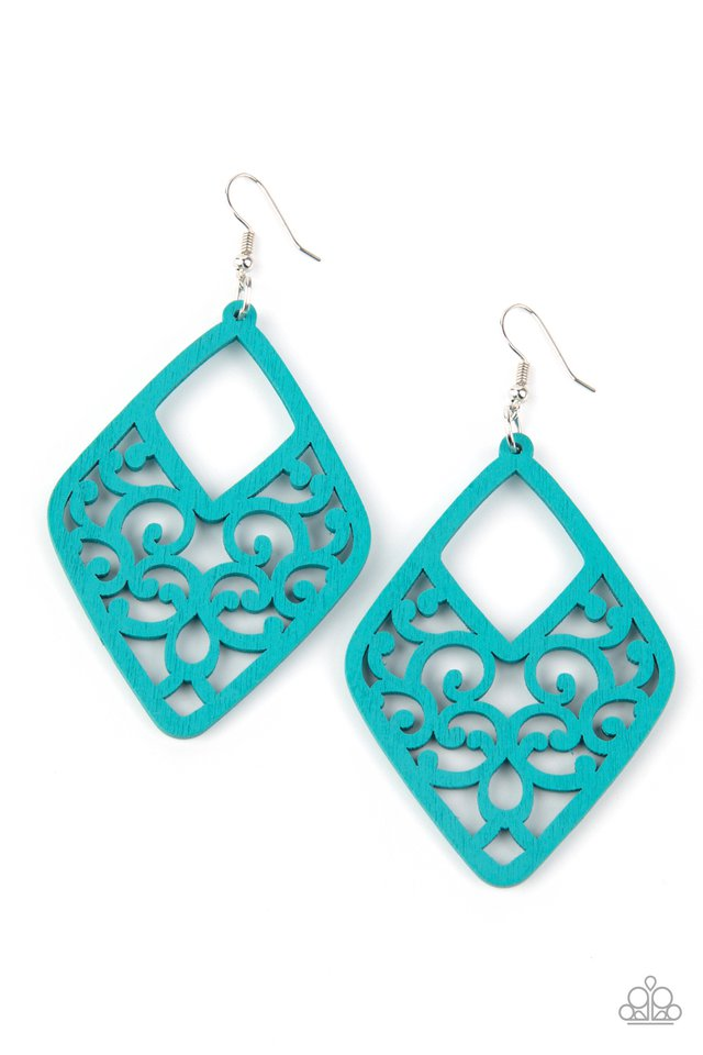 VINE For The Taking - Blue - Paparazzi Earring Image
