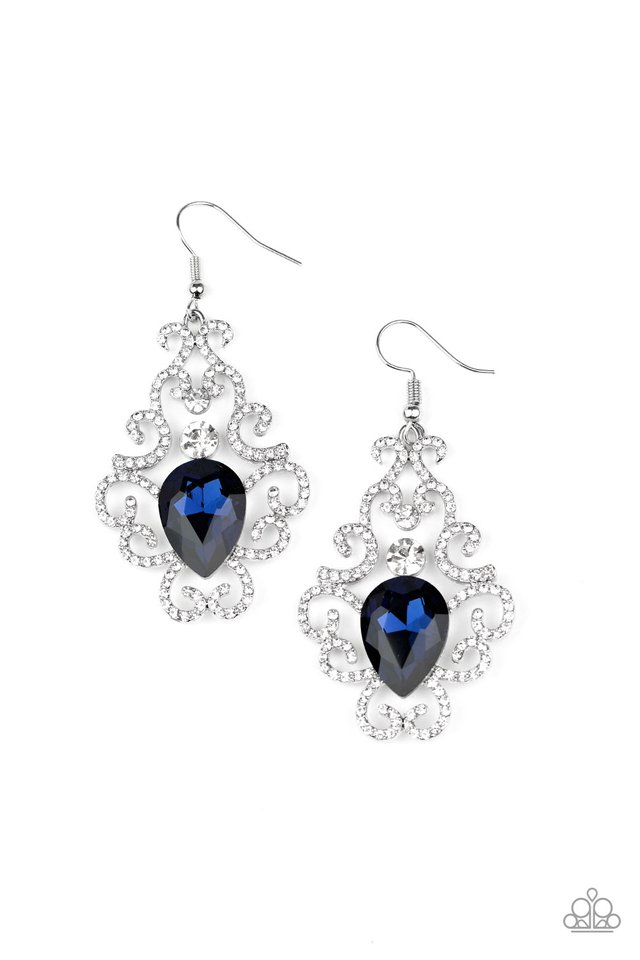 Happily Ever AFTERGLOW - Blue - Paparazzi Earring Image