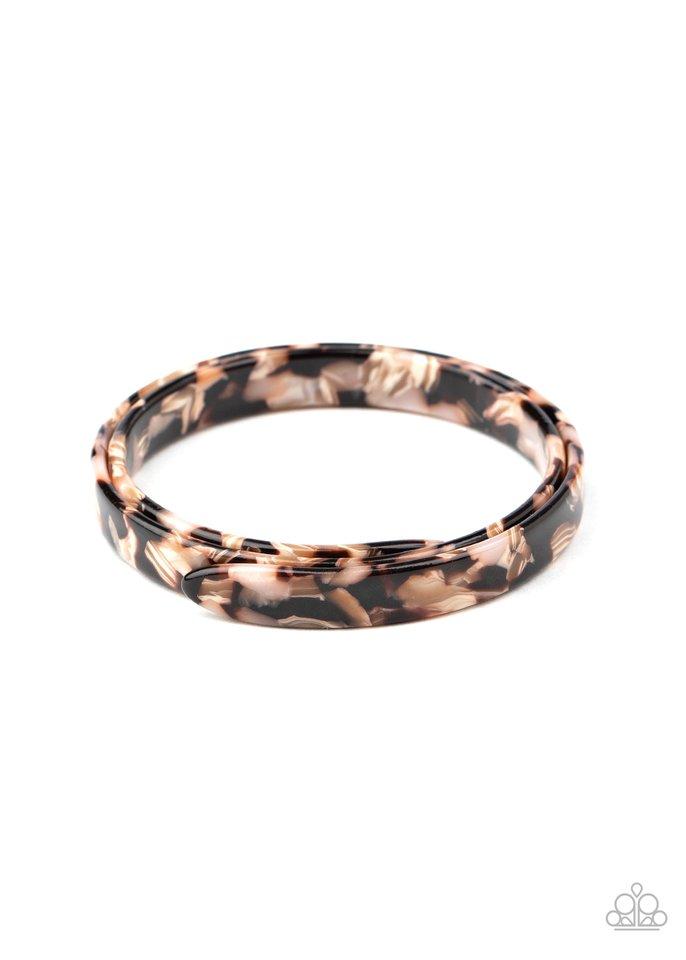 In The HAUTE Zone - Brown - Paparazzi Bracelet Image