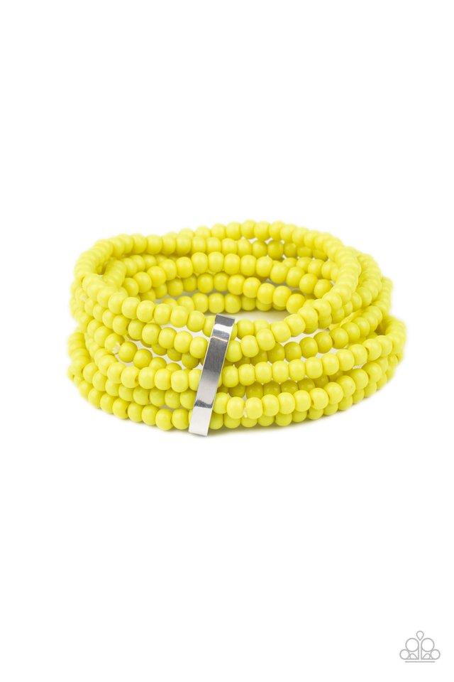 Thank Me LAYER - Yellow - Paparazzi Bracelet Image