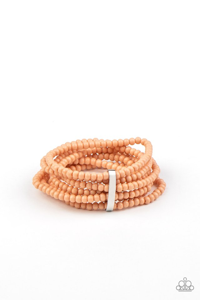 Thank Me LAYER - Orange - Paparazzi Bracelet Image