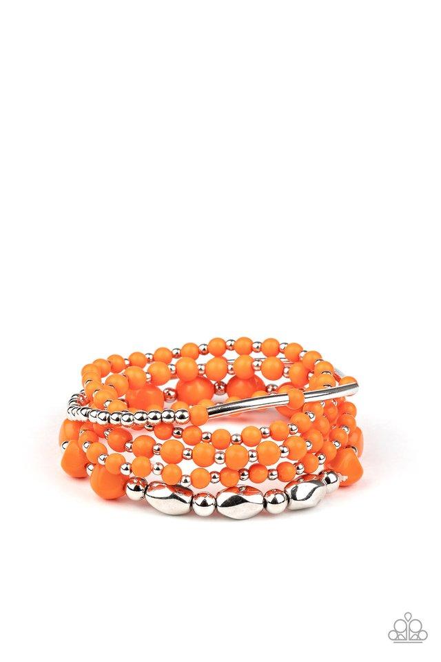 Vibrantly Vintage - Orange - Paparazzi Bracelet Image