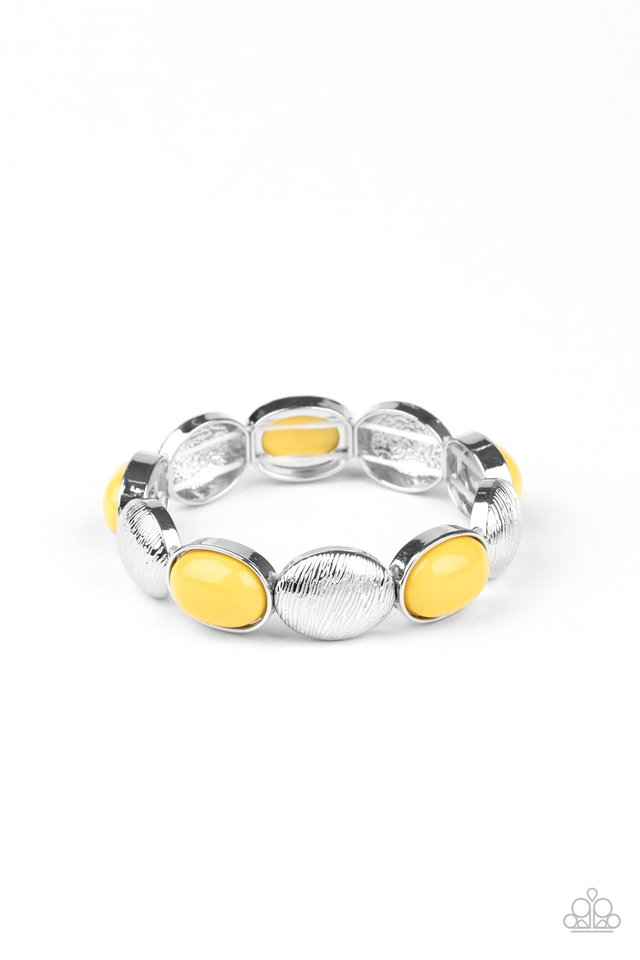 Decadently Dewy - Yellow - Paparazzi Bracelet Image