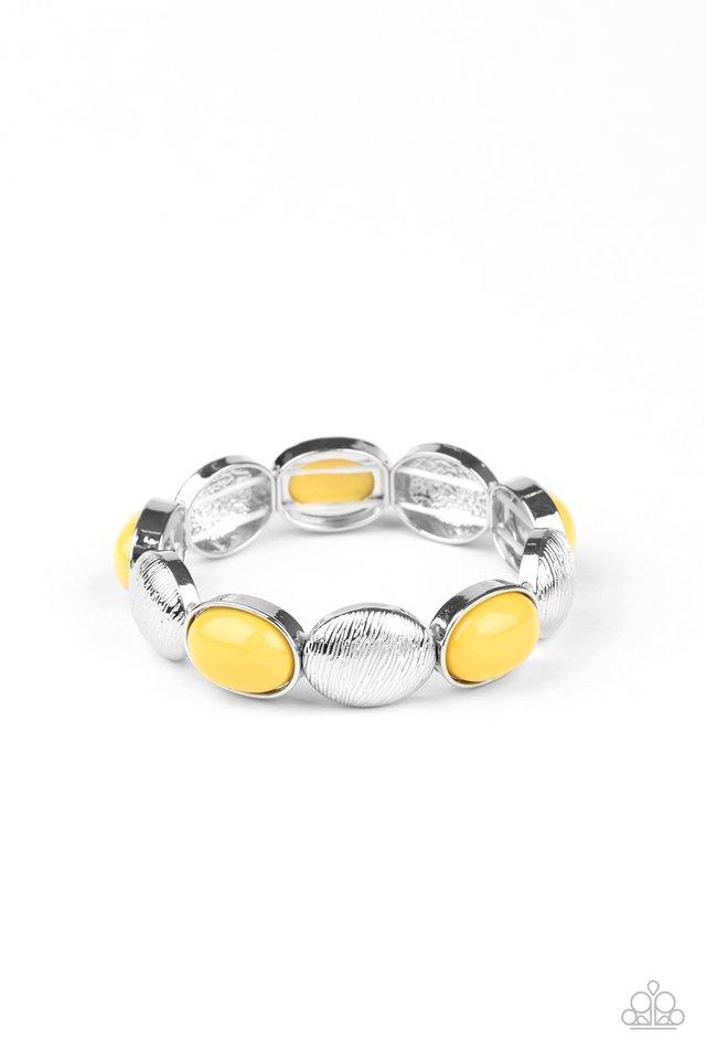 Decadently Dewy - Yellow - Paparazzi Bracelet Image