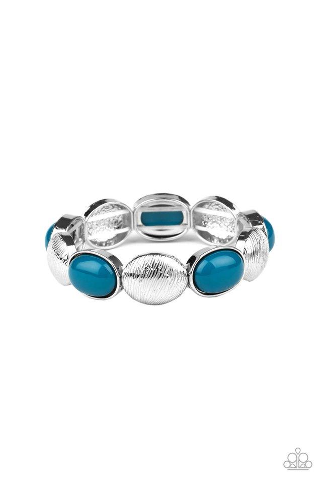 Decadently Dewy - Blue - Paparazzi Bracelet Image