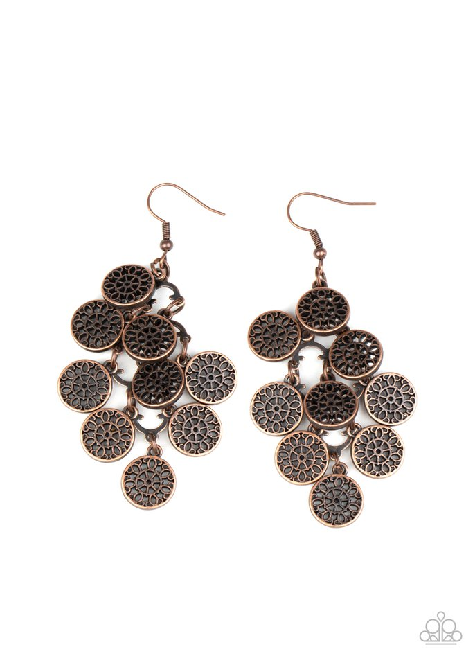 Blushing Blooms - Copper - Paparazzi Earring Image