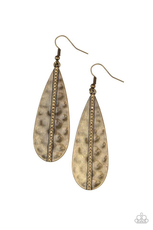 On The Up and UPSCALE - Brass - Paparazzi Earring Image