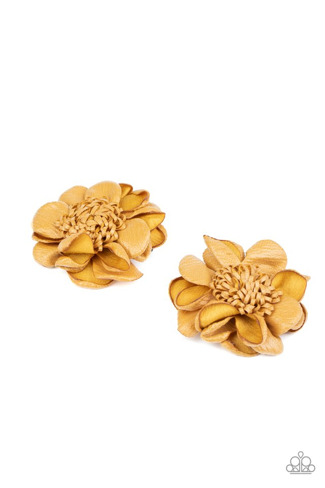 Full On Floral - Yellow - Paparazzi Hair Accessories Image