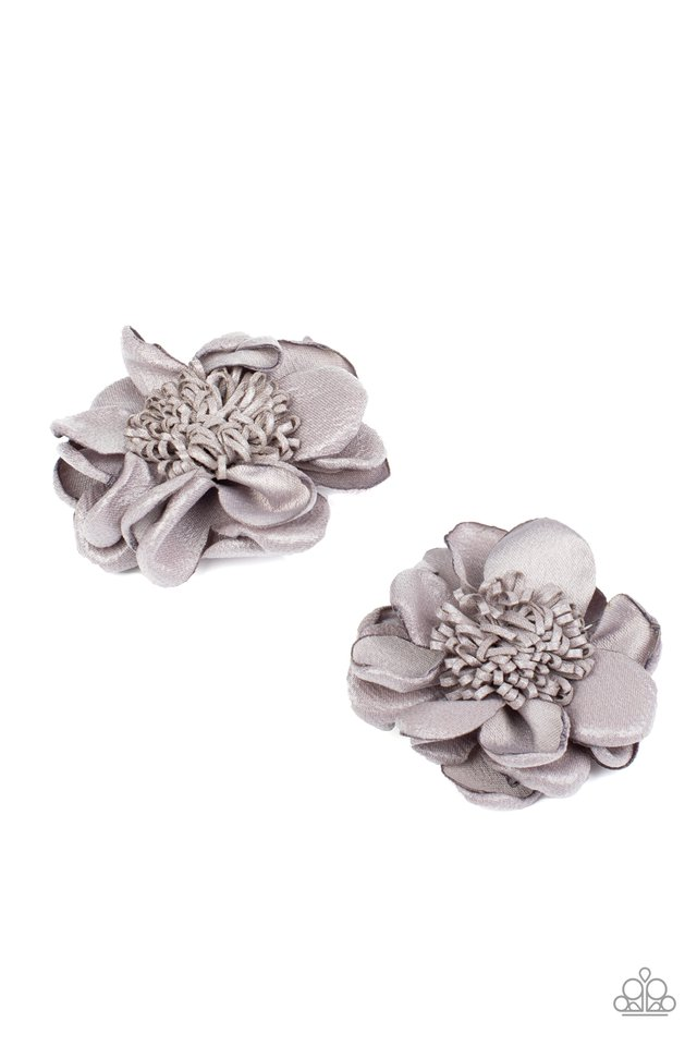 Full On Floral - Silver - Paparazzi Hair Accessories Image