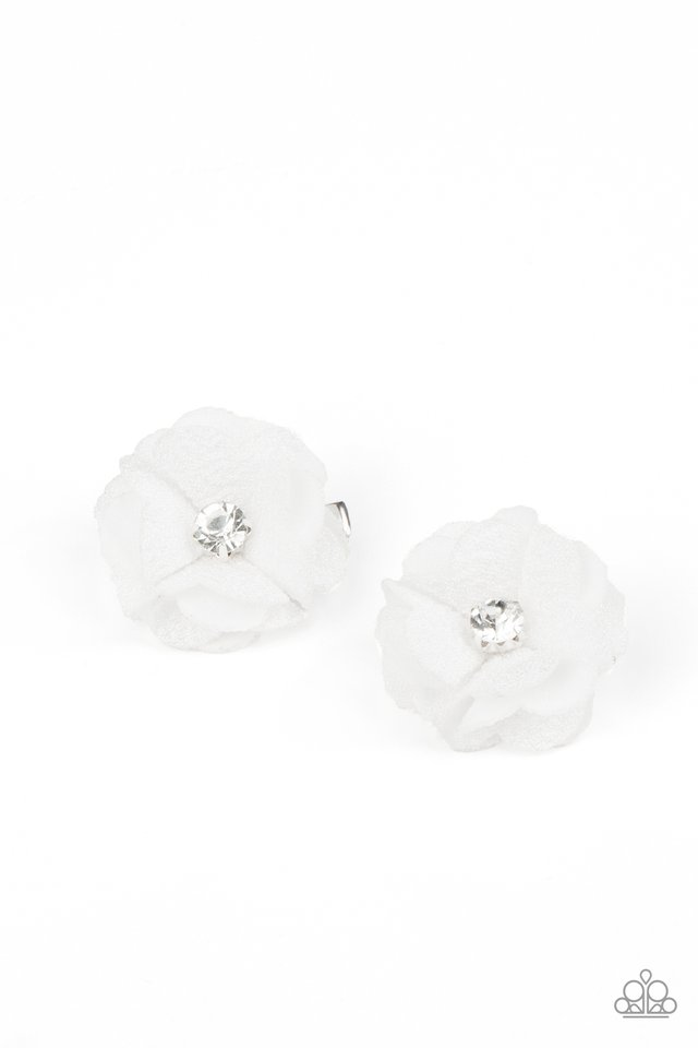 Watch Me Bloom - White - Paparazzi Hair Accessories Image