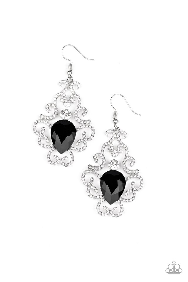 Happily Ever AFTERGLOW - Black - Paparazzi Earring Image