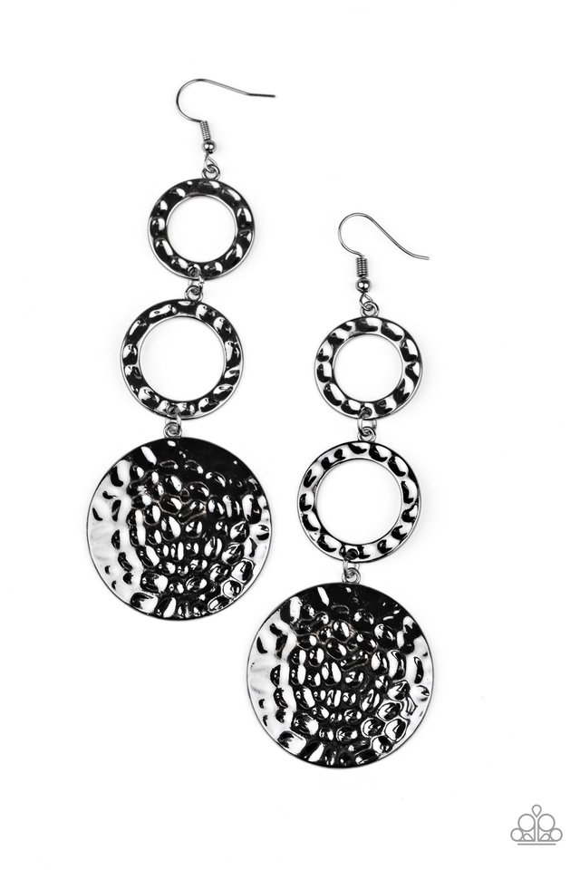 Blooming Baubles - Black - Paparazzi Earring Image