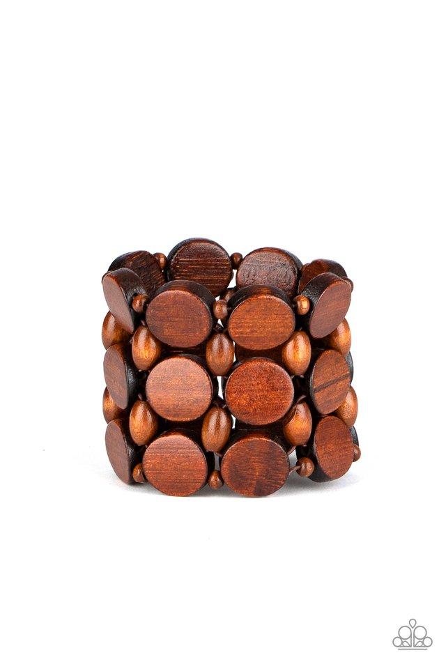 Cruising Coronado - Brown - Paparazzi Bracelet Image