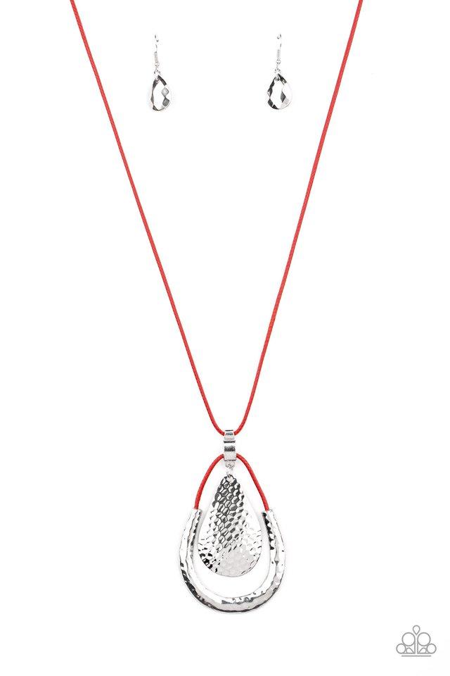 Texture Trekker - Red - Paparazzi Necklace Image