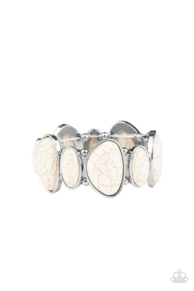 Feel At HOMESTEAD - White - Paparazzi Bracelet Image