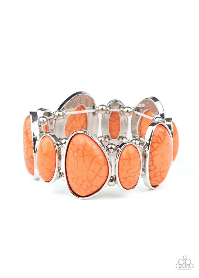 Feel At HOMESTEAD - Orange - Paparazzi Bracelet Image