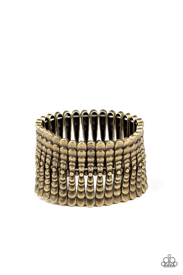 Level The Field - Brass - Paparazzi Bracelet Image