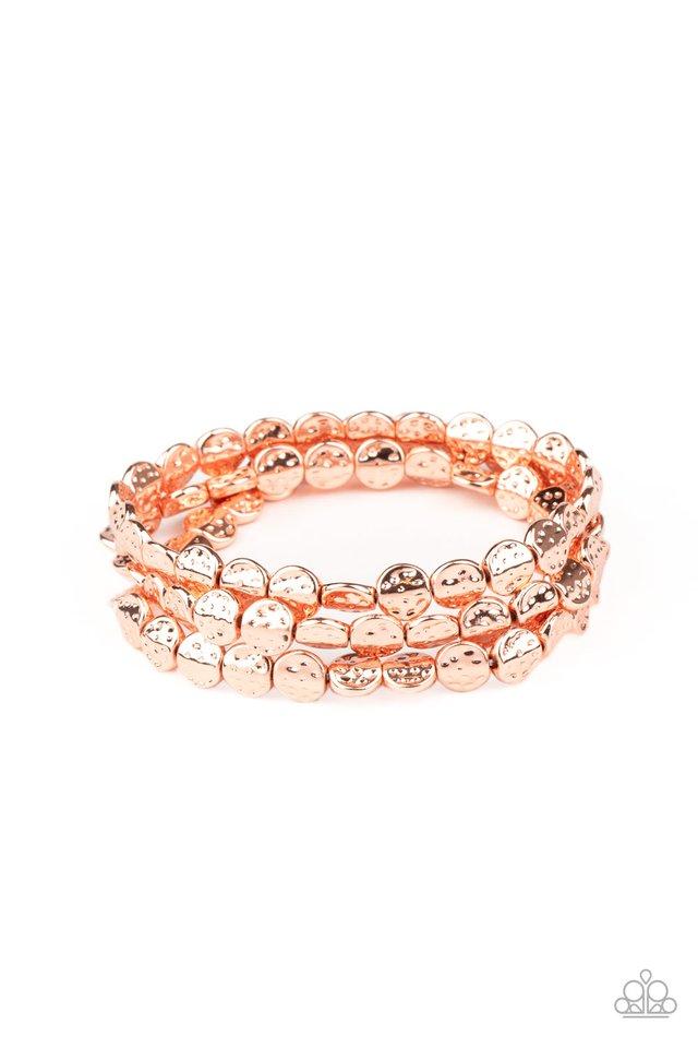 Hammered Heirloom - Copper - Paparazzi Bracelet Image