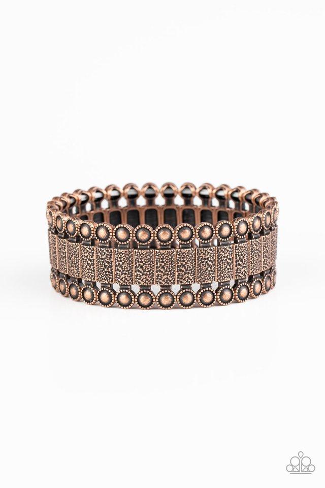 Rustic Rhythm - Copper - Paparazzi Bracelet Image