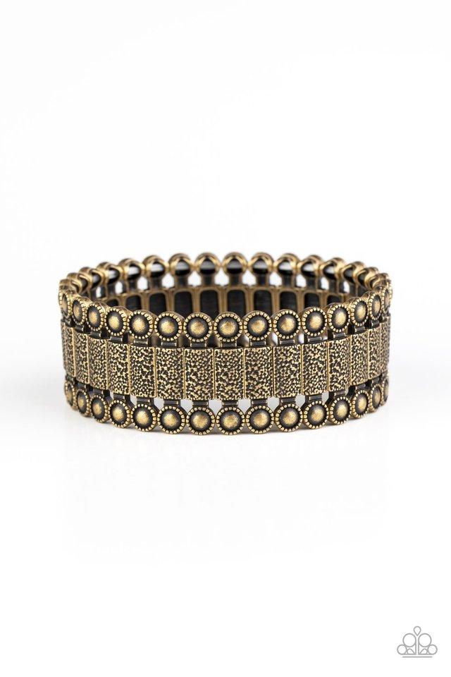 Rustic Rhythm - Brass - Paparazzi Bracelet Image