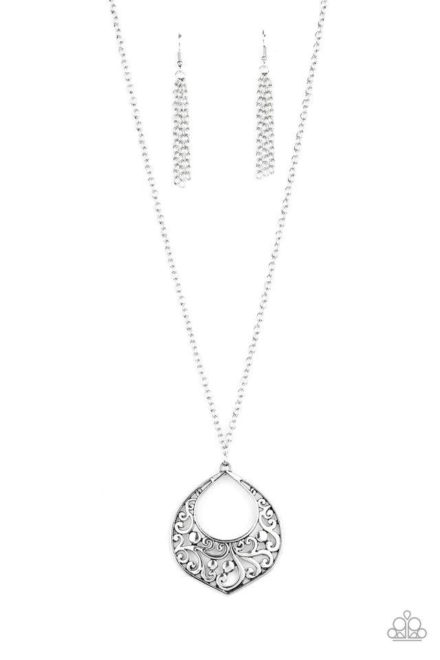 Venetian Vineyards - Silver - Paparazzi Necklace Image