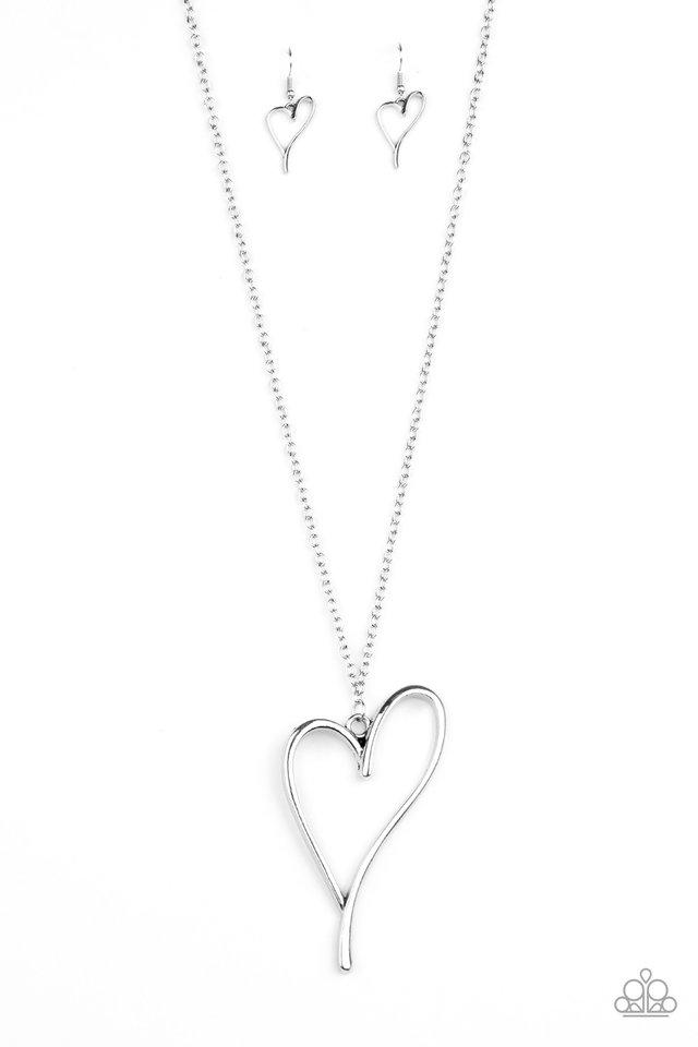 HEARTS So Good - Silver - Paparazzi Necklace Image