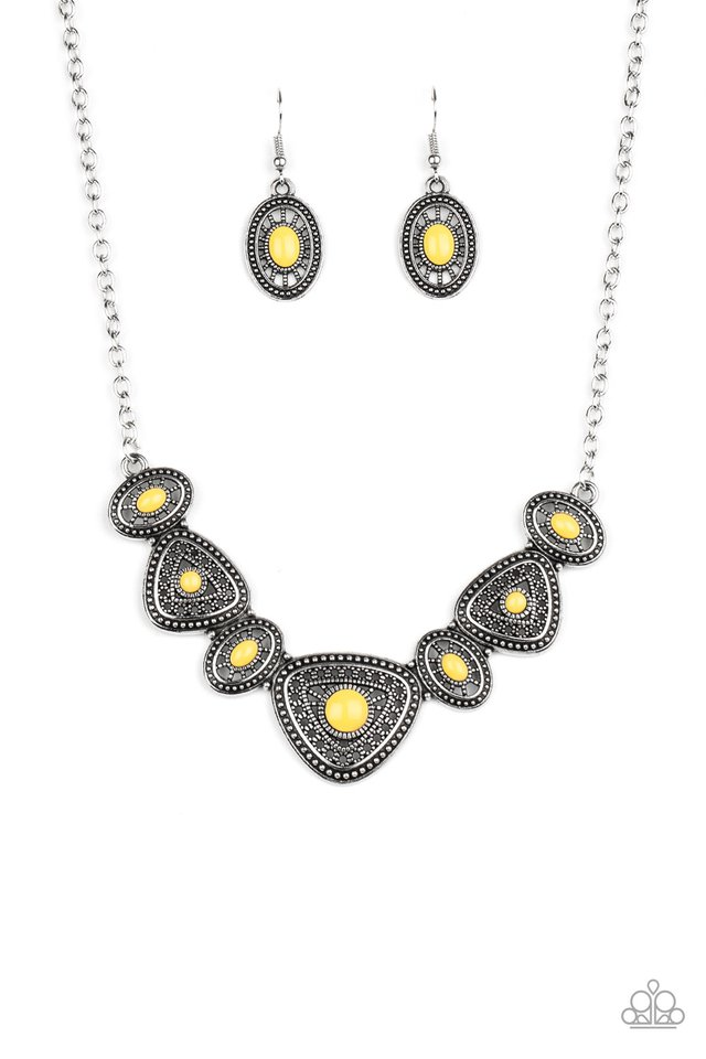 Totally TERRA-torial - Yellow - Paparazzi Necklace Image