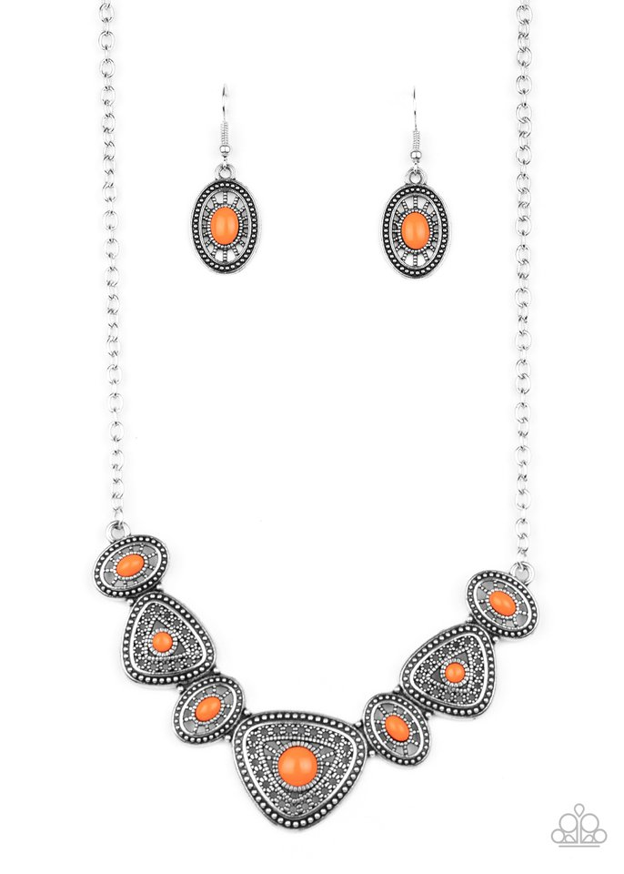 Totally TERRA-torial - Orange - Paparazzi Necklace Image
