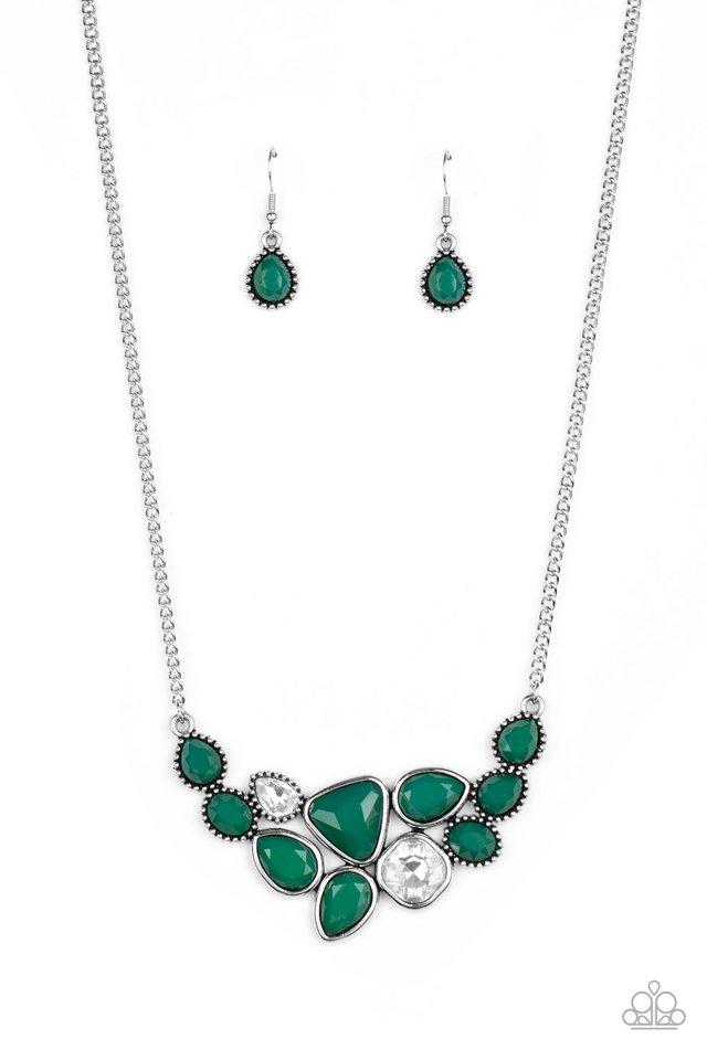 Breathtaking Brilliance - Green - Paparazzi Necklace Image