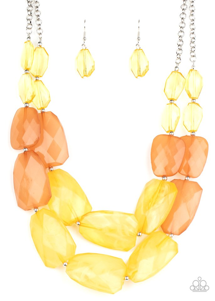 Gives Me Chills - Yellow - Paparazzi Necklace Image