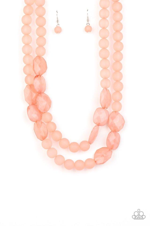Arctic Art - Pink - Paparazzi Necklace Image