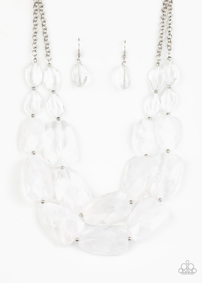 Gives Me Chills - White - Paparazzi Necklace Image