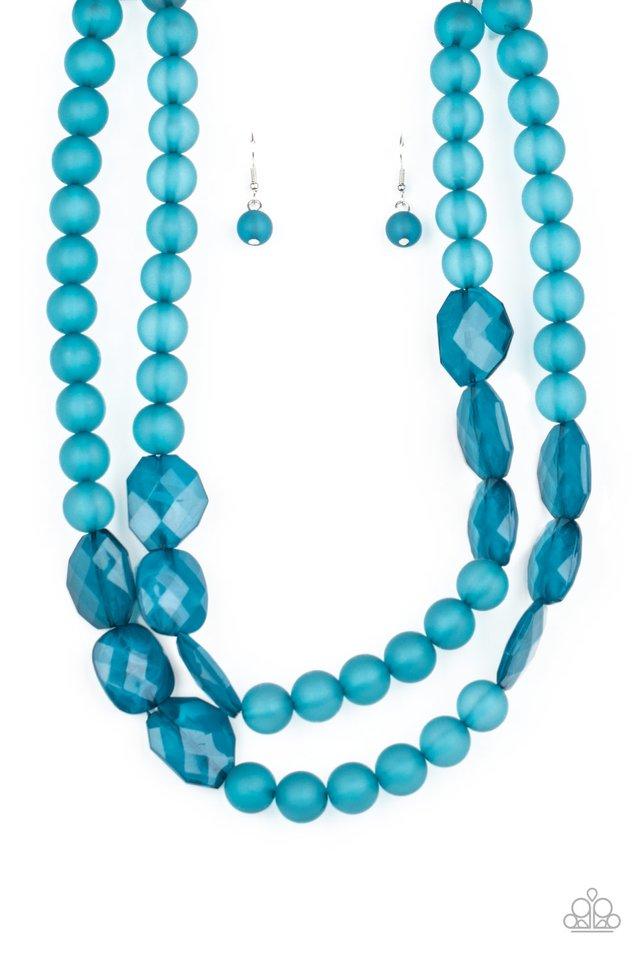 Arctic Art - Blue - Paparazzi Necklace Image