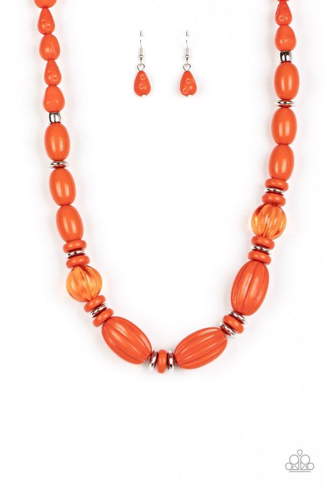 High Alert - Orange - Paparazzi Necklace Image