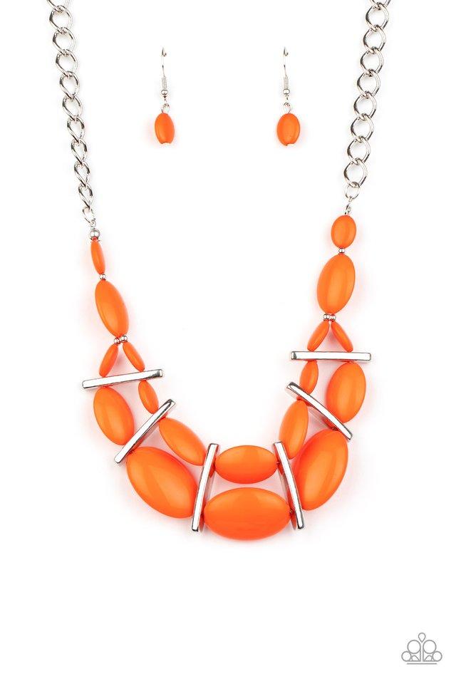Law of the Jungle - Orange - Paparazzi Necklace Image