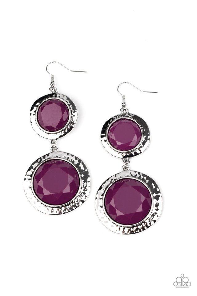 Thrift Shop Stop - Purple - Paparazzi Earring Image