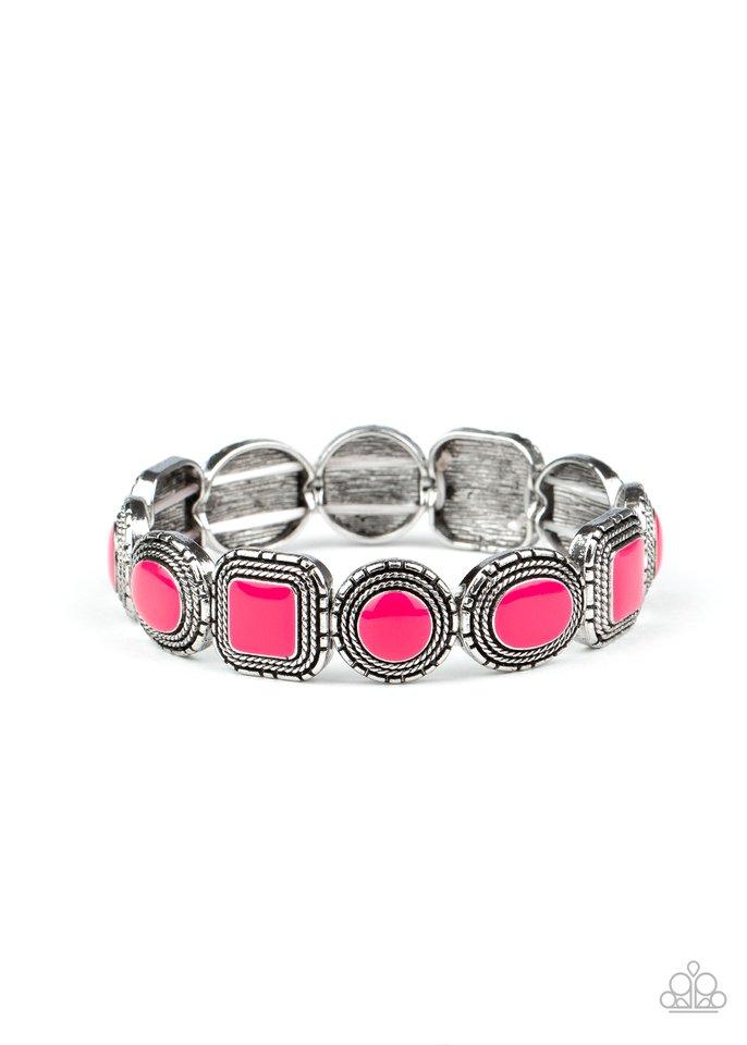 Vividly Vintage - Pink - Paparazzi Bracelet Image